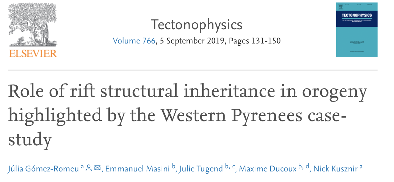 New Tectonophysics Paper authored by Gomez-Romeu !